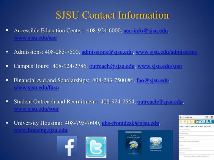 SJSU Contact Information