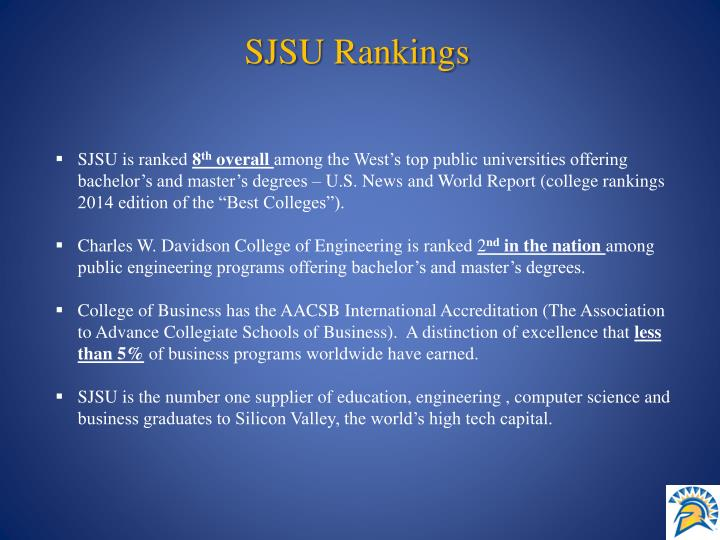 SJSU Rankings