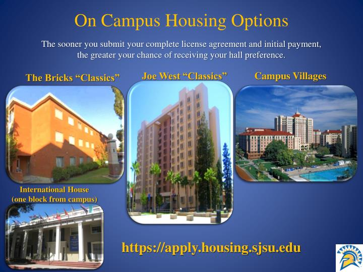 On Campus Housing Options
