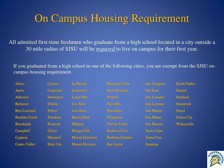 On Campus Housing Requirement