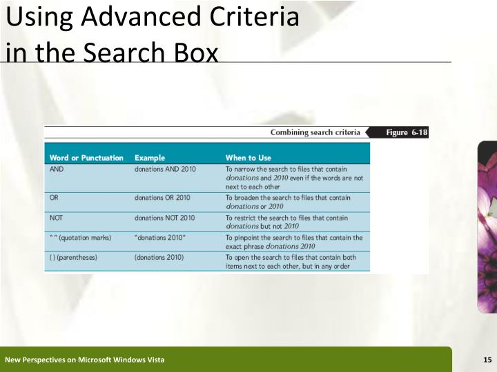Using Advanced Criteria