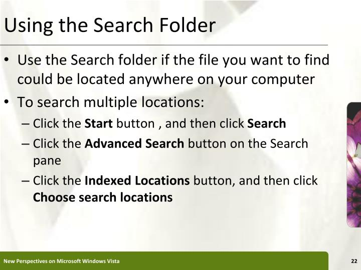 Using the Search Folder