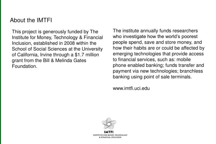 About the IMTFI