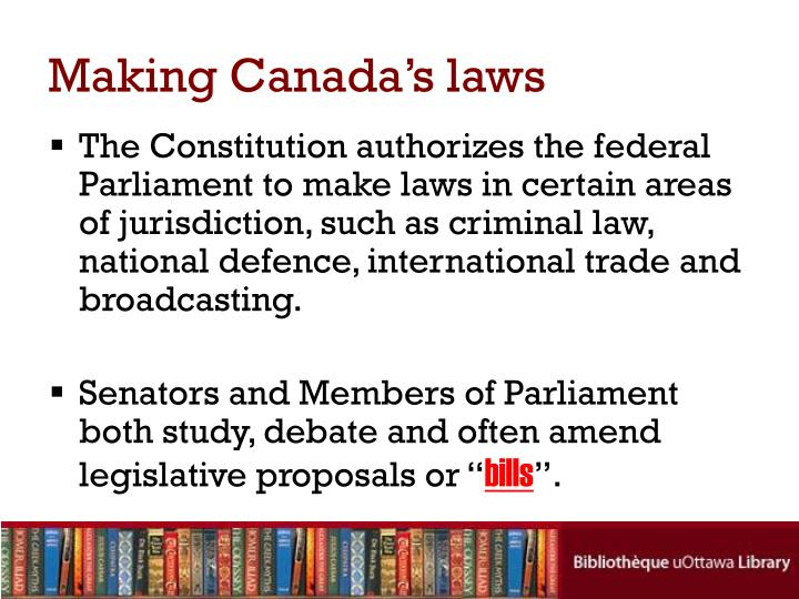 Making Canada's laws