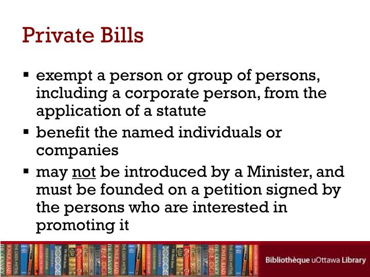 Private Bills