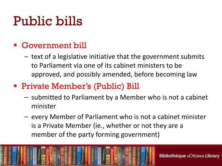Public bills