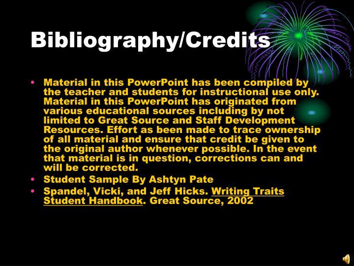 Bibliography/Credits