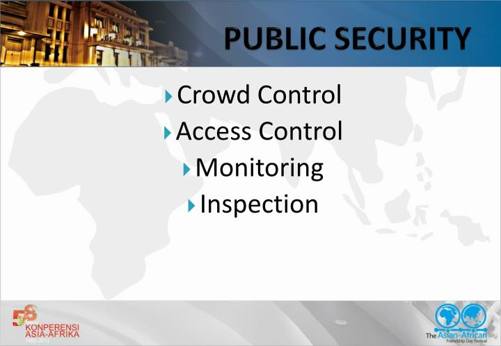 PUBLIC SECURITY