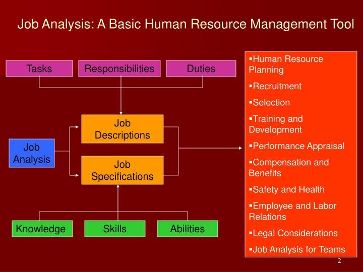Job Analysis: A Basic Human Resource Management Tool