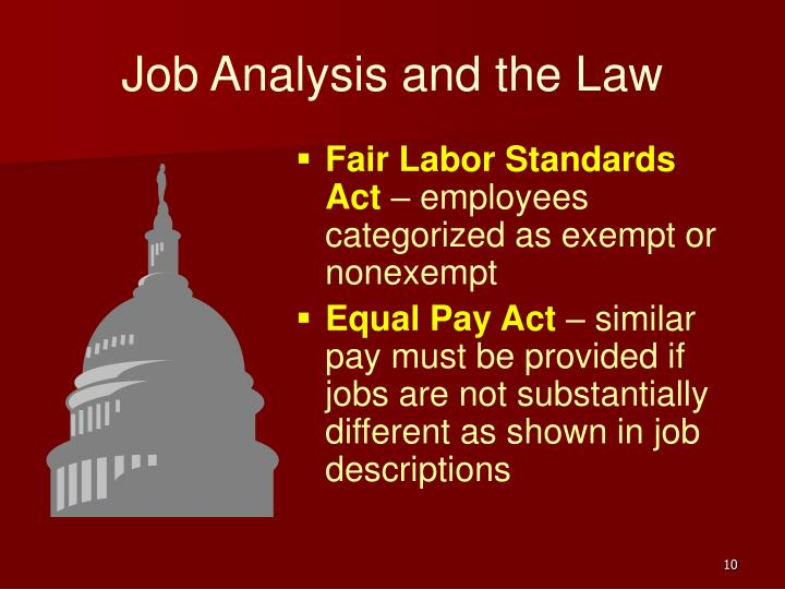 Job Analysis and the Law