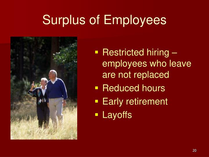 Surplus of Employees