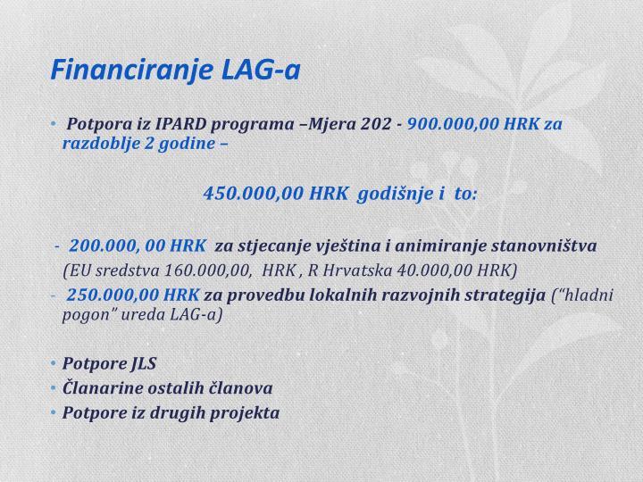 Financiranje LAG-a