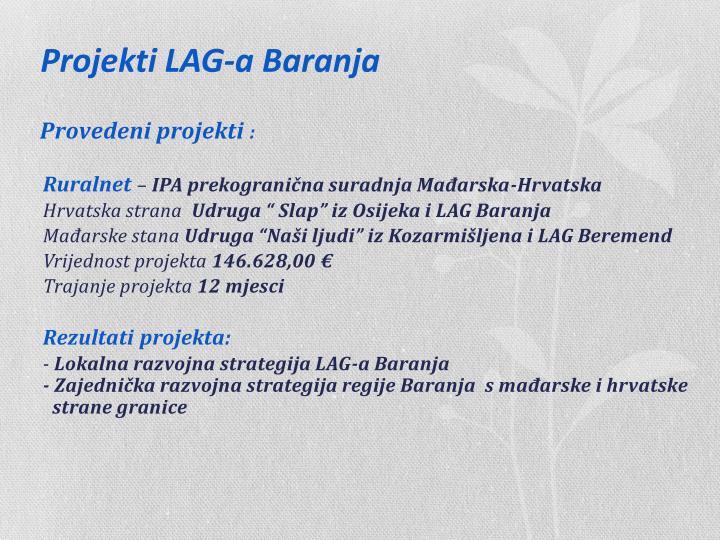 Projekti LAG-a Baranja