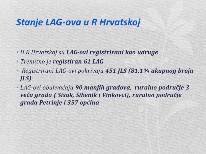 Stanje LAG-ova u R Hrvatskoj