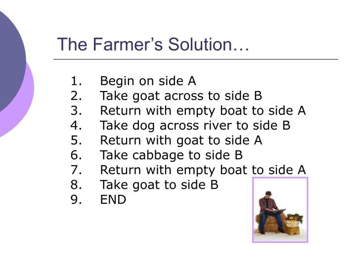 The Farmer's Solution…