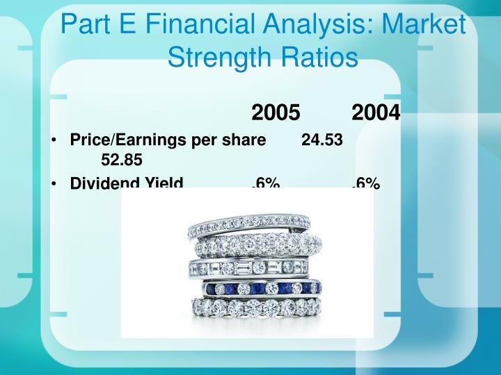 Part E Financial Analysis: Market Strength Ratios