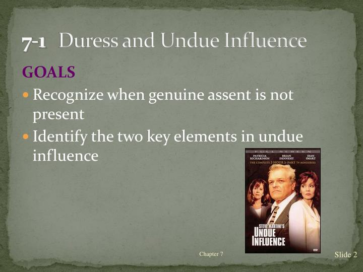 7 1 duress and undue influence
