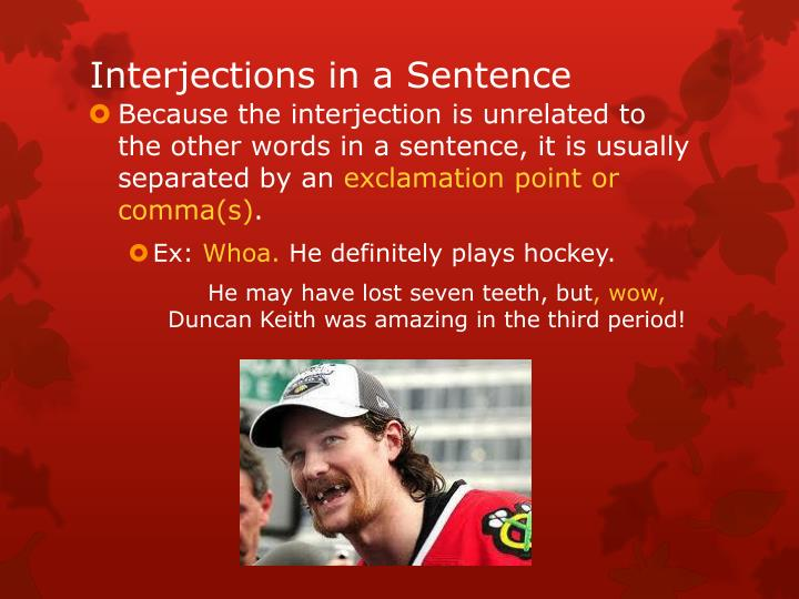 Interjections in a Sentence