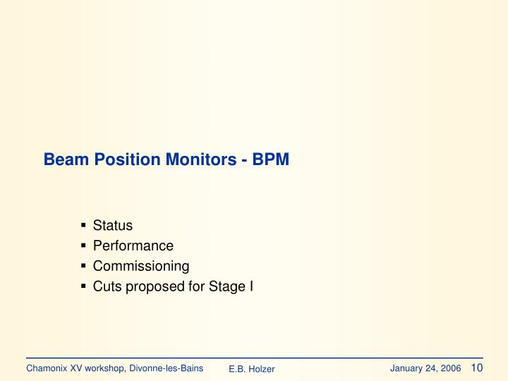 Beam Position Monitors - BPM