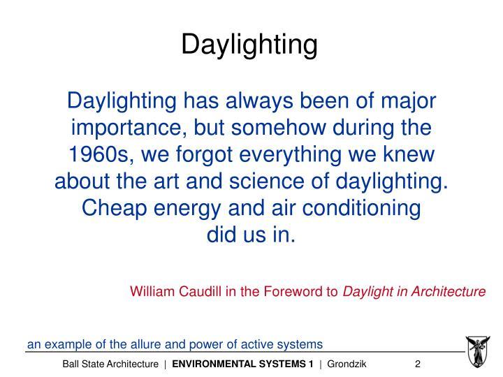 Daylighting