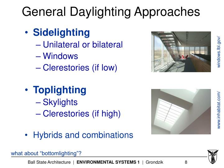 General Daylighting Approaches