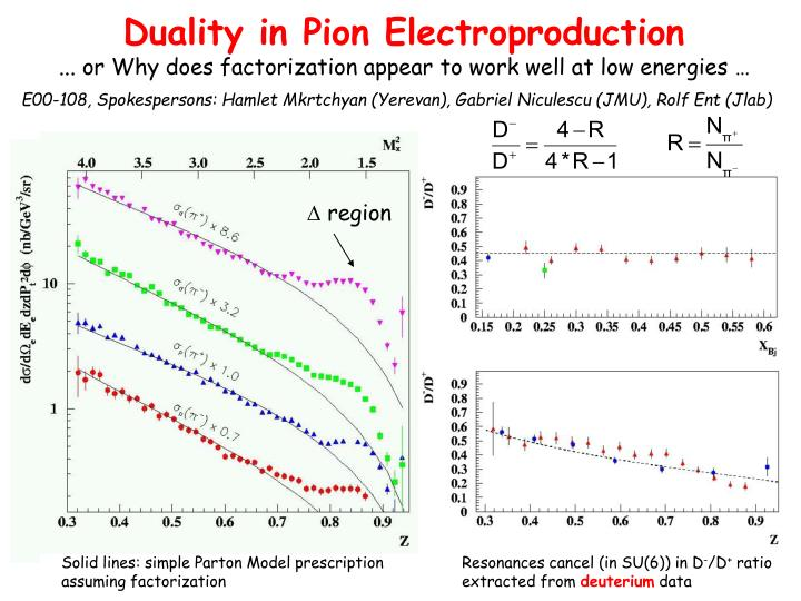 Duality in Pion Electroproduction