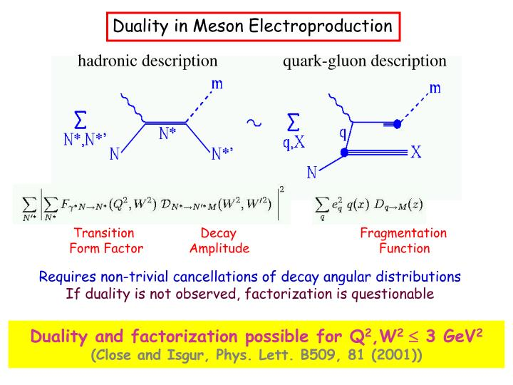 Duality in Meson Electroproduction