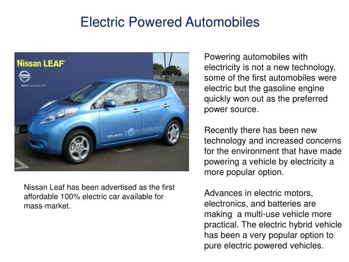 Electric Powered Automobiles
