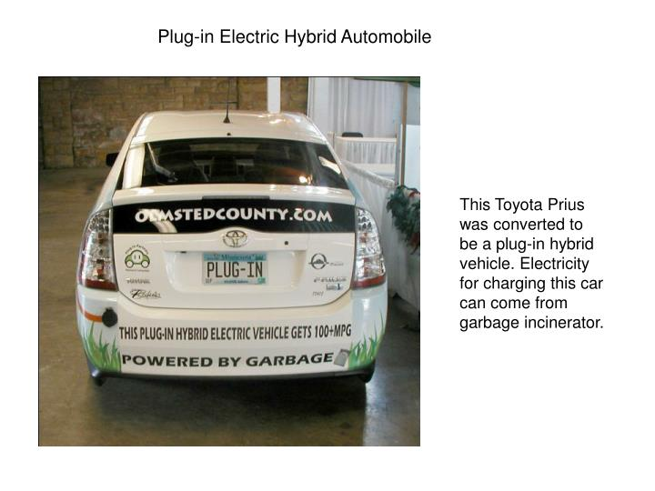 Plug-in Electric Hybrid Automobile