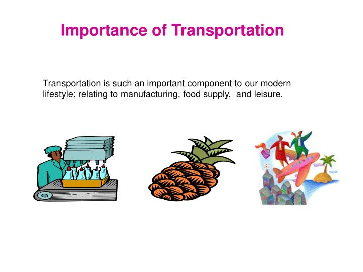 Importance of Transportation