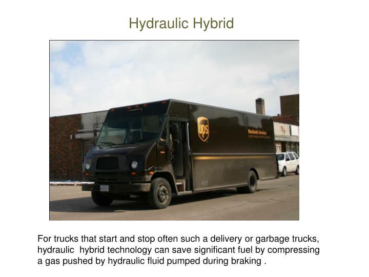 Hydraulic Hybrid