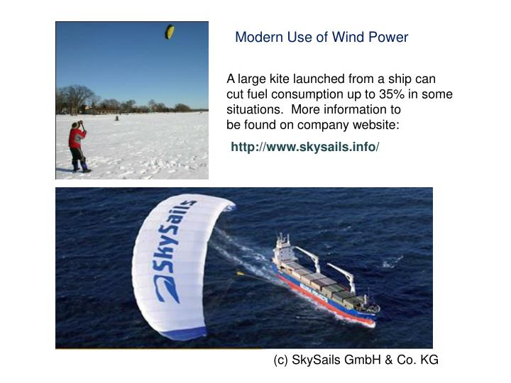 Modern Use of Wind Power