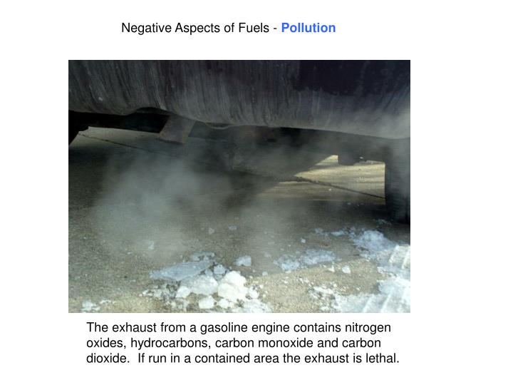 Negative Aspects of Fuels -
