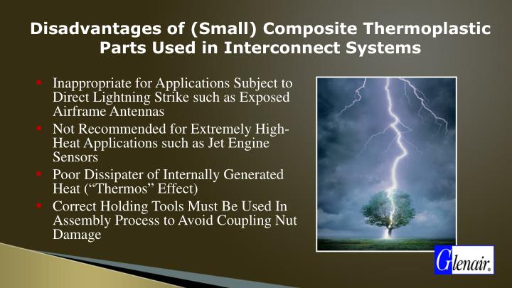 Disadvantages of (Small) Composite Thermoplastic Parts Used in Interconnect Systems
