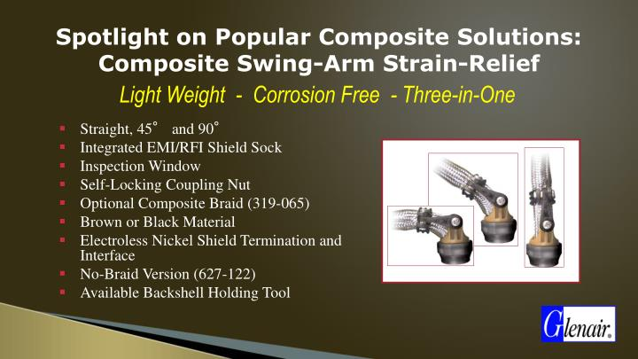 Spotlight on Popular Composite Solutions: Composite Swing-Arm Strain-Relief