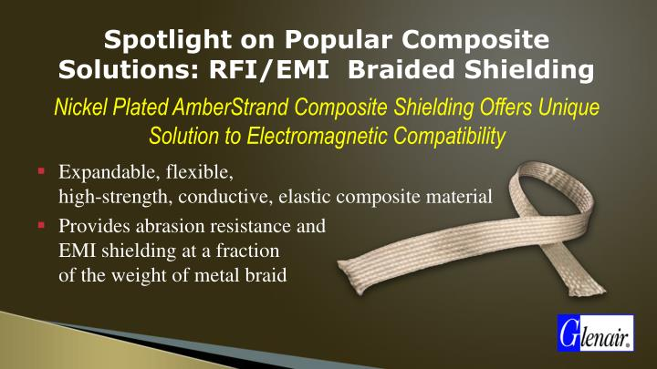 Spotlight on Popular Composite Solutions: RFI/EMI  Braided Shielding