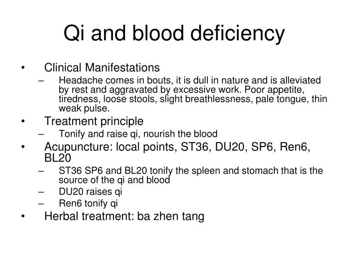 Qi and blood deficiency