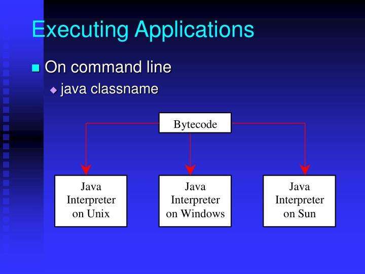 Executing Applications