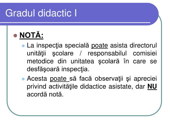 Gradul didactic I