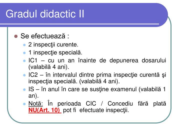 Gradul didactic II