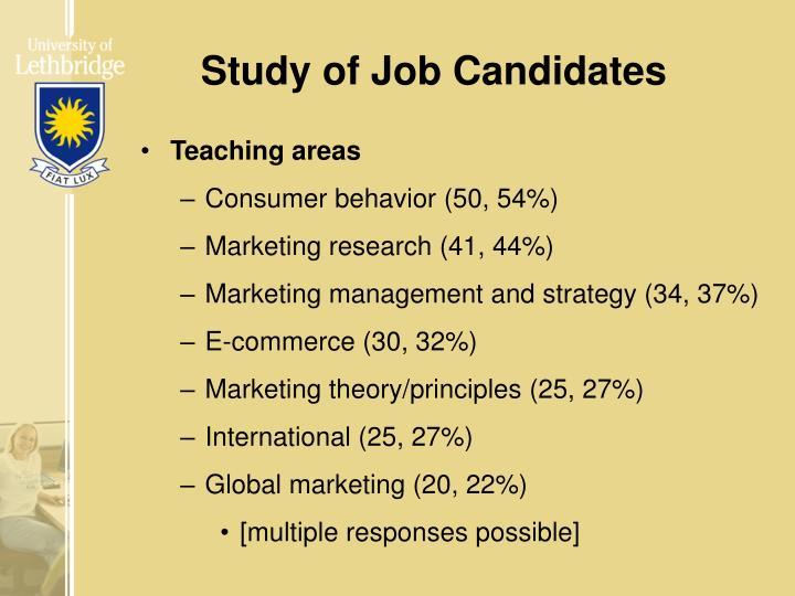 Study of Job Candidates