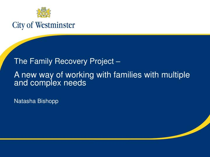 The Family Recovery Project –