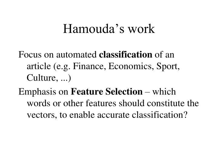 Hamouda's work