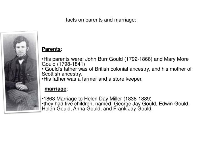 facts on parents and marriage:
