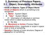 2 summary of previous papers 2 1 object granularity attributes