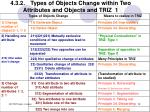 4 3 2 types of objects change within two attributes and objects and triz 1