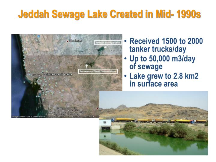 Jeddah Sewage Lake Created in Mid- 1990s
