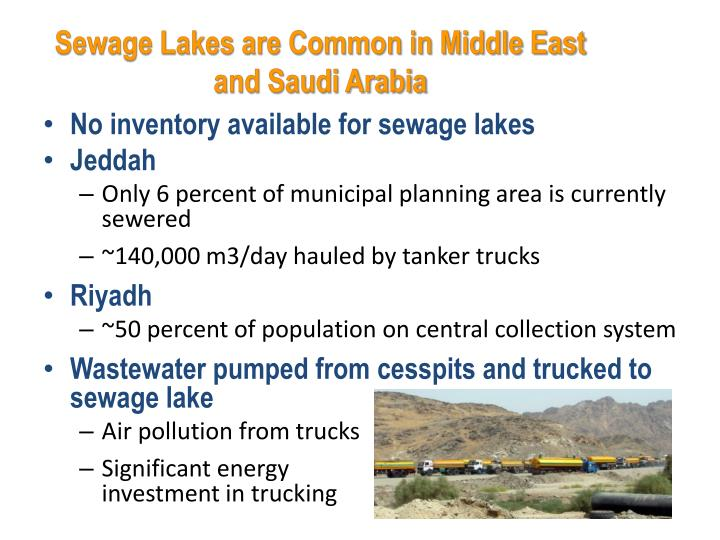 Sewage Lakes are Common in Middle East and Saudi Arabia