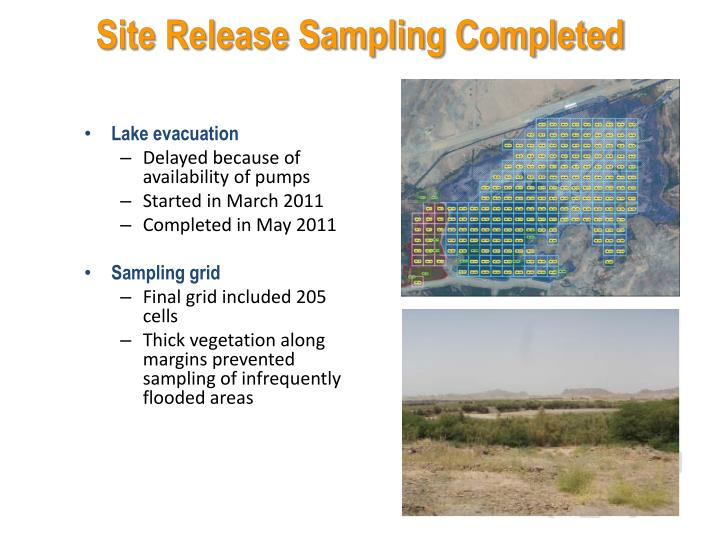 Site Release Sampling Completed