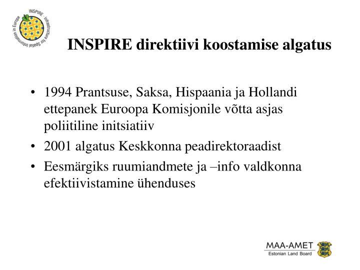 INSPIRE direktiivi koostamise algatus